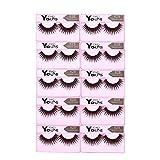 Anself 10 Paar Falsche Künstliche Wimpern Dicke Lange Eyelashes Pure