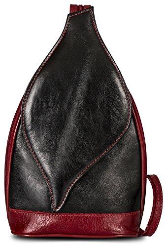 leine italienische Echtleder Cabrio Riemen Rucksack Schultertasche mit einer Schutztasche - Kim (Cowgirl Rucksäcke)