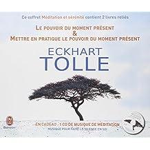 Coffret Méditation & Sérénité : 2 livres reliés : Le pouvoir du moment présent ; Mettre en pratique le pouvoir du moment présent (1CD audio)