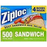 Ziploc Sandwich Bags (500 Sandwich Bags) (•Bag Dimensions: 6-1/2 in. x 5-7/8 in.) by ZIPLOC Bild