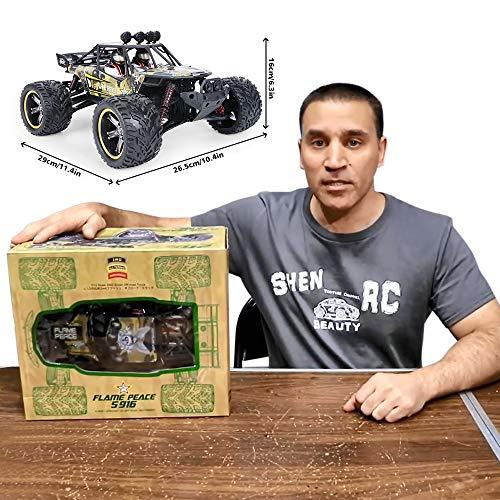 RC Auto kaufen Truggy Bild 4: GPTOYS Ferngesteuertes Fahrzeug RC Autos 1:12 Skala 2WD 2.4 GHz 26+MPH Halb-Wasserdicht Monstertruck Geländewagen --- Geschenk für Kinder*
