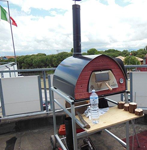 Holzbackofen Pizzone für Pizzabraten und Brot (original mobiler Holzbackofen)