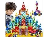 ZEARO 164 Teile Magnetic Designer Bau Gebäude Spielzeug Kunststoff Blocks Pädagogisches Für Kinder Geschenk (164 Teile)