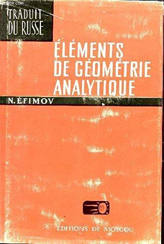 Éléments de géométrie analytique