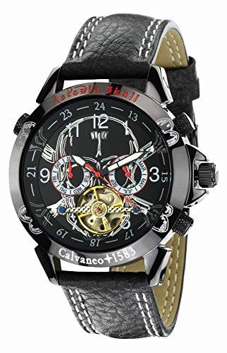 Calvaneo 107630 – Reloj, correa de cuero color negro