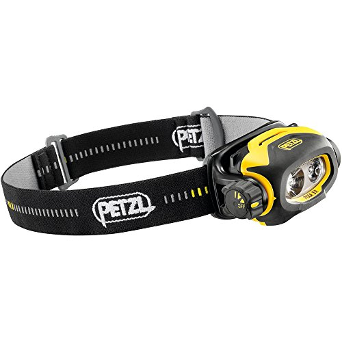 PETZL PIXA 3R - LINTERNA (HEADBAND FLASHLIGHT  NEGRO  AMARILLO  IP67  POLIMERO DE LITIO)