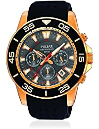 Pulsar PT3134X1 - Reloj con correa de caucho para hombre, color negro / gris
