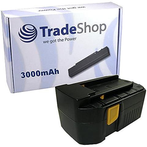 Batería para Hilti B 24/3.0, B 24/2.0, B24/3, B24/2 y compatible con WSR 650-A, WSC 6.5, UH 240-A, WSC 55-A24, TE 2-A, SFL 24, WSR650A, WSC65, UH240A, WSC55A24, TE2A y SFL24 (Ni-Mh, 24 V, 3000