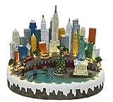 LED Weihnachtslandschaft New York Weihnachtsdorf beleuchtet Spieluhr Weihnachtsbeleuchtung Weihnachtsdeko Weihnachtsstadt Weihnachtsfiguren ausgefallen modern Weihnachtsspieluhr