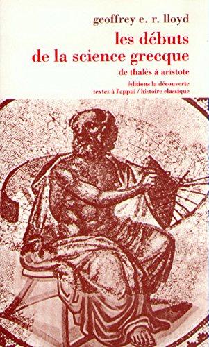 les-dbuts-de-la-science-grecque-de-thals-aristote
