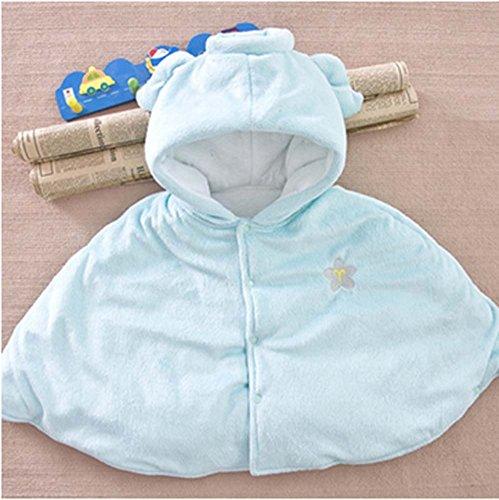 Baby-Cloak mit Schal Babydecken Zwölf Constellations Babymantel Blau Wassermann