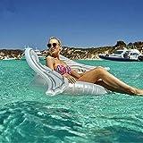 Pool Toy Piscina Inflable Flotador Gigante Inflable Alas De Ángel Piscina Flotador Colchoneta De Playa Roja Colgante De Aire Adulto Anillo De Natación Agua Verano Fiesta Juguetes White-120CM