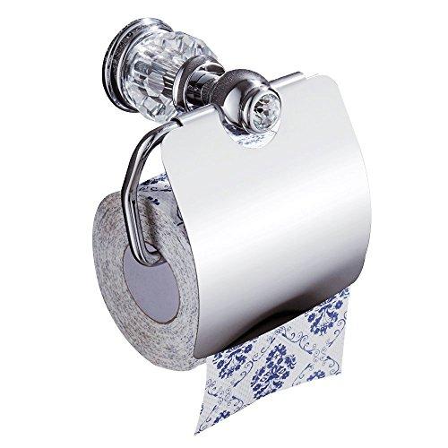 CASEWIND Silber Toilettenpapierhalter Klorollenhalter Papierhalter,  Wasserdicht Silber Chrom Finishe