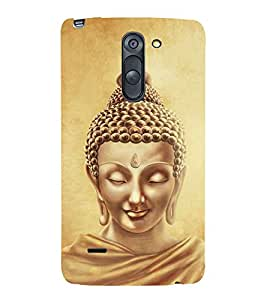 Lord Buddha Design 3D Hard Polycarbonate Designer Back Case Cover for LG G3 Stylus :: LG G3 Stylus D690N :: LG G3 Stylus D690