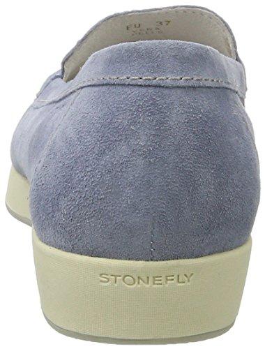 Stonefly Claude 8, Mocassins Femme Bleu (Ash Blue Q35)