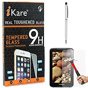 iKare Tempered Glass for Lenovo A1000, Tempered Screen Protector for Lenovo A1000 + Stylus with Ball Point Pen