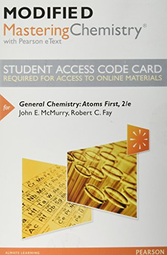NEW MasteringChemistry with Pearson EText - Standalone Access Card - for General Chemistry: Atoms First