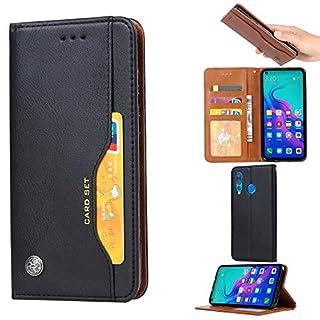 Forhouse Huawei Nova 4 Hülle,Ledertasche Hülle, Premium PU Leder Schutzhülle Flip Magnet Brieftasche Kartenfach Schlanke stoßfest Schutzhülle für Huawei Nova 4 (Black)