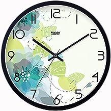 DHHLJ La moda del reloj reloj de pared Reloj de cuarzo grande sala de estar moderna decoración creativa guabiao mute,10a(20cm),negro