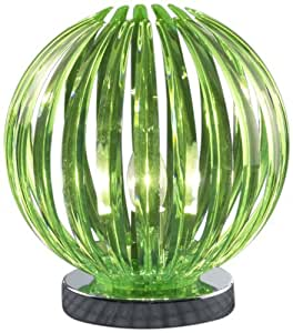Trio 534000151 Lampe de table 1 x E14 / 40W / 25 cm Chrome / Acrylique vert