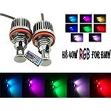 Newsun - Luces LED de colores para faros de BMW E91 E92 E82 E90 E61 E70 E71 E89 X5 X6 Z4