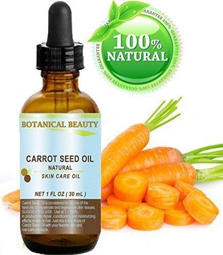 """Botanical Beauty - Huile graine de carotte 100% naturelle / pressée à froid soin peau, corps, cheveux et lèvres - """"Une des meilleures huiles pour rajeunir et régénérer les tissus de la peau"""""""