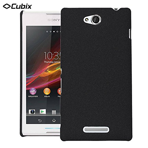 Sony C C2305 Case, Ultra Slim Hard Case Back Cover Case For Sony C C2305 (Black) - By Dr Chen  available at amazon for Rs.299