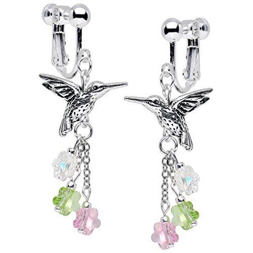 Body-Candy-Hecho-a-mano-chapado-en-plata-de-colibr-pendientes-de-clip-creado-con-cristales-de-Swarovski