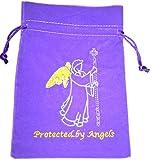 Find Something Different Luxueux sac pour cartes de Tarot/Oracle en velours Anges