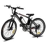 Chigant 2018 Neu Erwachsense 26 Zoll E-Bike Elektrofahrrad Mountainbike, 21 Gang E-Bike Trekking Max. 35km/h, Kapazität Lithium-Akku LED-Anzeige 36V/250W