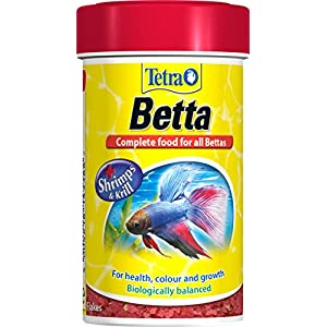 Tetra Betta Fish Food, Complete Fish Food Biologically Balanced for All Bettas, 100 ml