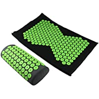 Preisvergleich für MagiDeal Akupressur-Set (Matte + Kissen) Massagematte zur effektiven Entspannung - Grün, wie beschrieben