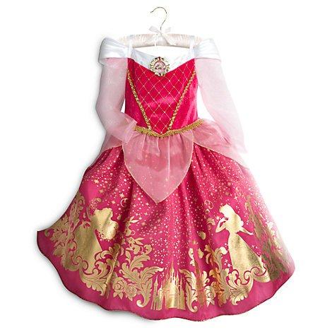 (Disney Dornröschen - Aurora Kostüm für Kinder , Größe 7-8 Jahre, Offizielle Princess Kostüm,)