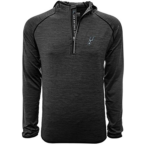 Levelwear LEY9R Apex Insignia Quarter Zip Midlayer, Herren, Apex Insignia Quarter Zip Mid-Layer, Heather Charcoal, Large