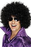 Smiffys Déguisement Homme, Perruque Afro Disco, Cheveux frisés, Taille unique, Couleur: Noir, 42034