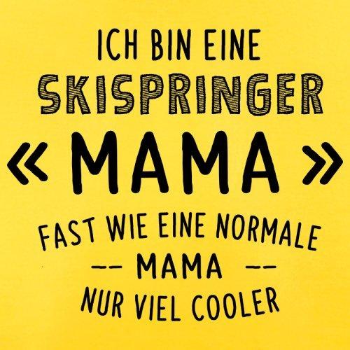 Ich bin eine Skispringer Mama - Herren T-Shirt - 13 Farben Gelb