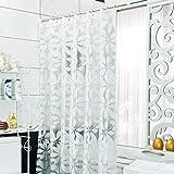 curtain Tenda da Doccia Impermeabile Anti-Nebbia Isolante Spessa divisorio per Tende,180 * 180cm