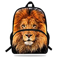 VEEWOW 16-Inch Animal Print Bags for Kids Lion King Backpack for Boys Girls School