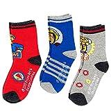 Feuerwehrmann Sam - Auswahl Kinder Socken Strümpfe 3er Pack, Schuhgröße:31-34;Farbe:Grau