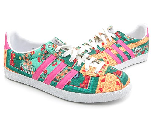 adidas Originals  GAZELLE OG WC FARM, Peu femme jaune vert rose