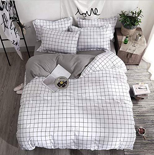 SHJIA Bettwäscheset Bettwäscheset Kissenbezüge Heimtextilien Bettwäsche Tröster Feinstfaser Bettwäscheset Bettwäsche Off White 150X200Cm -