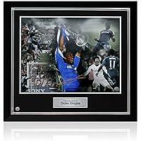 Didier Drogba Chelsea Football Firmato Foto: Champions League Hero, lusso incorniciato (grande)