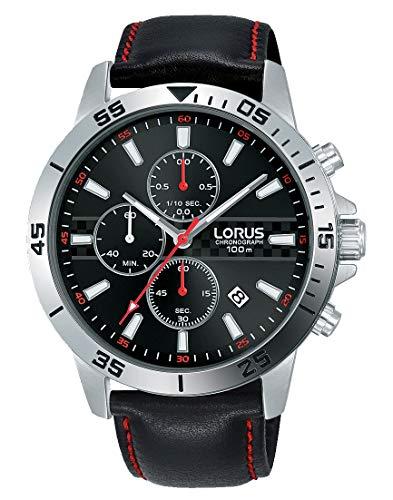 Lorus Hommes Chronographe Quartz Montre avec Bracelet en Cuir RM313FX9