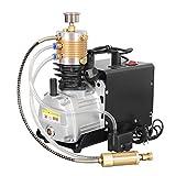 HUKOER Achte Generation Hochdruck Elektrische Luftkompressorpumpe, 300BAR 30MPA 4500PSI Luftpumpe Elektrische Luftkompressor PCP Inflator für Inflation Flasche Pneumatische Autoreifen, Motorcyclet