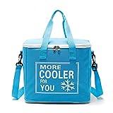 Asinig Fashion Shoulder Eco-Friendly Beer 24 Lattine Tote Cooler Bag con Maniglia più economiche 20L Isolate Non tessute Cooler Bag per Birre e Alimenti AG2187,Blue