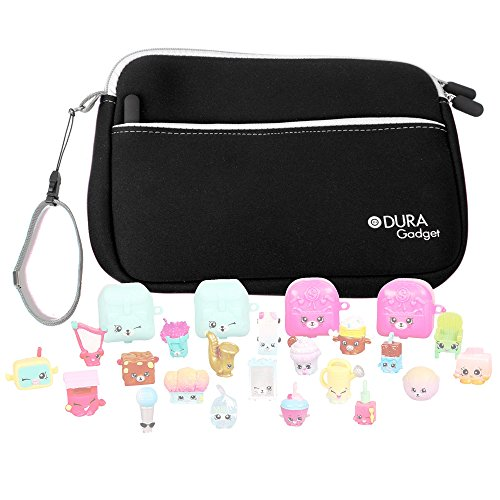 Price comparison product image Black Neoprene Case Cover With Front Storage Pocket for the Shopkins S5 Mega Pack - by DURAGADGET