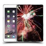 Head Case Designs Offizielle PLdesign Rot Gruene Feuerwerke Ferien Und Festtage Soft Gel Hülle für iPad Air 2 (2014)
