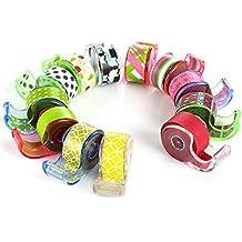 Polar Bear® Washi Tape im band spender, 12mm x5m auf jede, 12 Stück (insgesamt 60 Meter), sortiert Farben, (WT-1255)