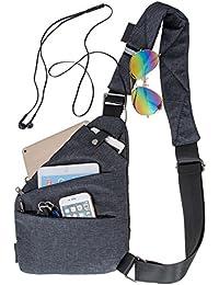 Hombres Bolso de la honda bolsos del baúl del hombro cross body mochila liviana multipropósito anti paquete de robo daypack para Ipaid uso diario deporte al aire libre viajes senderismo trabajo escuel