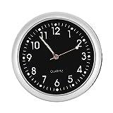 Auto Armaturenbrett Uhr klassische kleine runde Tabelle Onboard Quarzuhr mit belichtetem Licht Mini Nachtleuchtende Uhr Uhren für Selbstdekoration